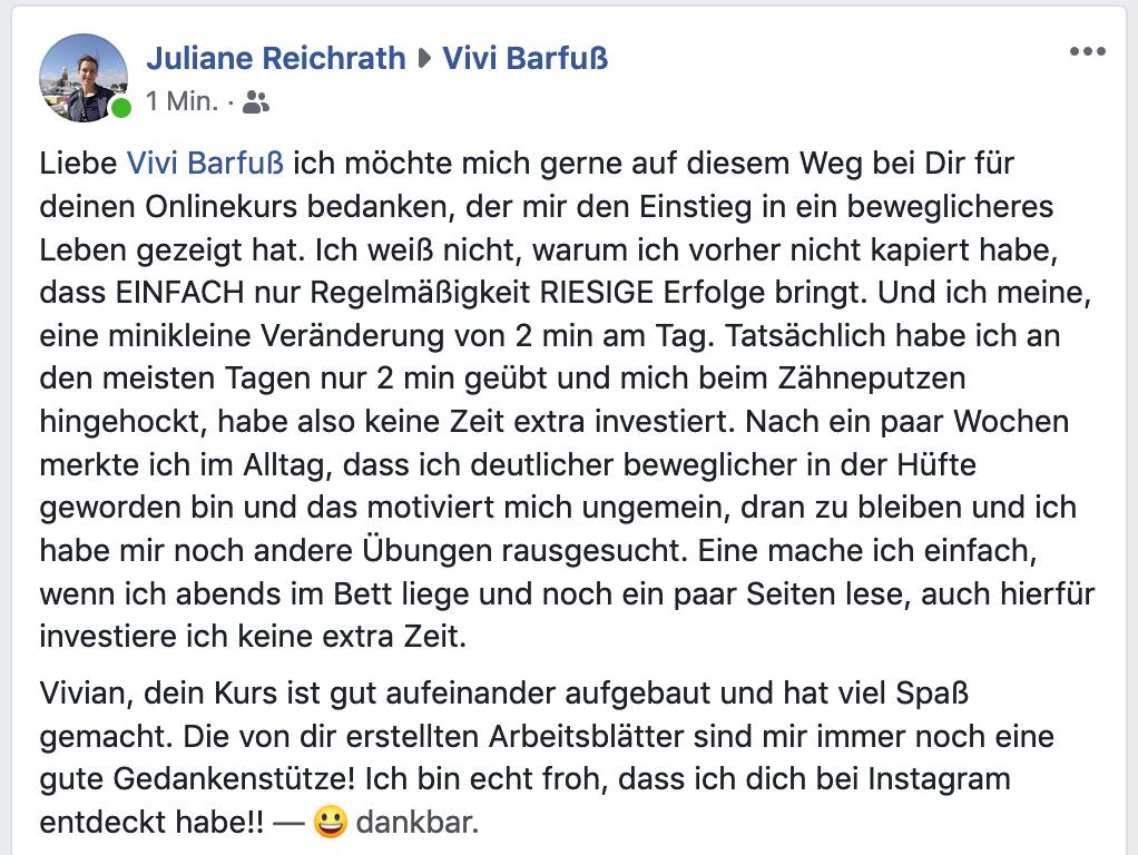 Feedback von Juliane Reichrath